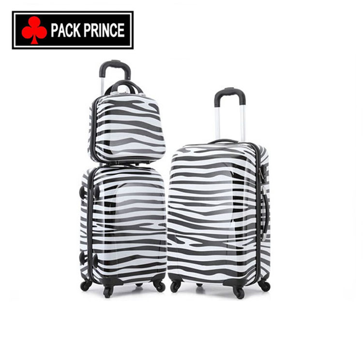 2016 Fashion and eye-catching Luggage with zebra pattern.
