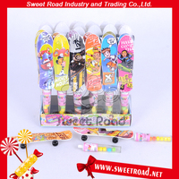 New Design Slide Board Candy Toy With Multi-colored Sweet Candy In Clear Candy Tubes