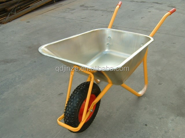 Industrial low price galvanized wheelbarrow,heavy duty metal construction wheel barrow