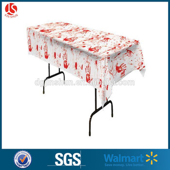 Kinshun Halloween Decoration Plastic Scray Red blood table cloth