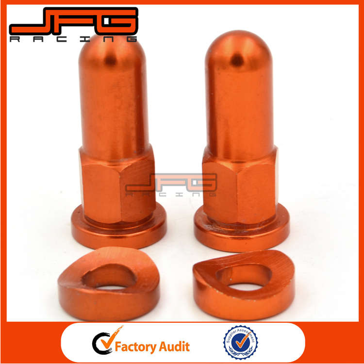 Orange MX Rim Lock Covers Nuts Washers Security Bolts For KTM SXS MXC MX Motorcycle Motocross Dirt Bike