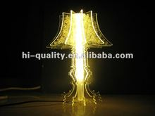 2012 Hot Sale Acrylic Table Lamp/ Clear Acrylic LED Light