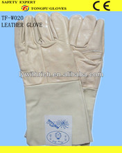 winter white leather gloves /leather winter hunting shooting gloves/western safety gloves