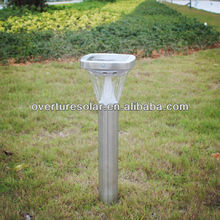 outdoor lawn lamps for garden /patio / villa lighting SMD led high lumen stainless steel solar LED lawn lights ROHS, IP44