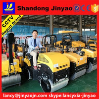 Construction popular double drum road roller in low price, main pump of road roller in famous brand, sale TV report road roller