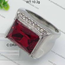 Fashionable Good fashion stainless steel ring with rhodium plating