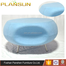 Replica modern living room furniture Colorful fiberglass Webbed seat Pebble stool