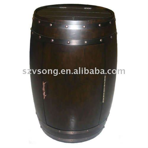 28 bottles Thermoelectric semiconductor electric Wooden Barrel wine cooler,Single Temp.Zone