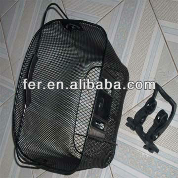 207058 STEEL BLACK MESHING WIRE BICYCLE BASKET
