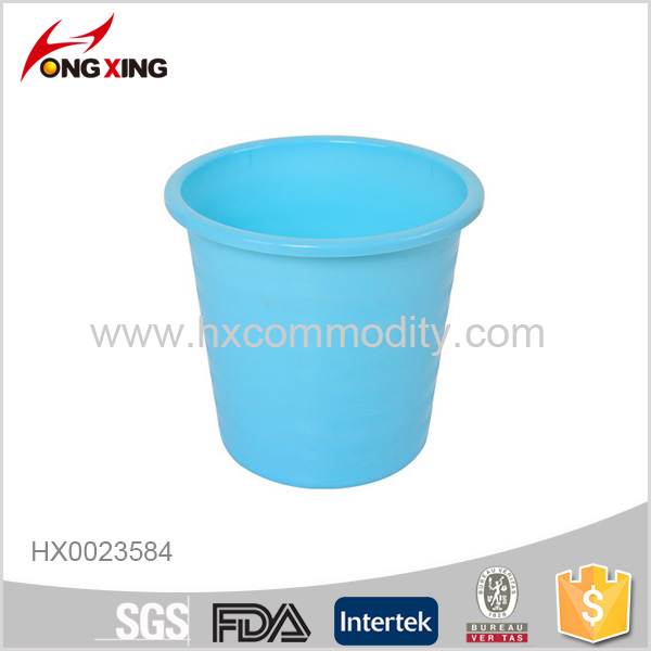 PP indoor trash can plastic office round dustbin without lid