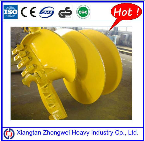 Double Start Single End Cylindrical Drilling Auger Head