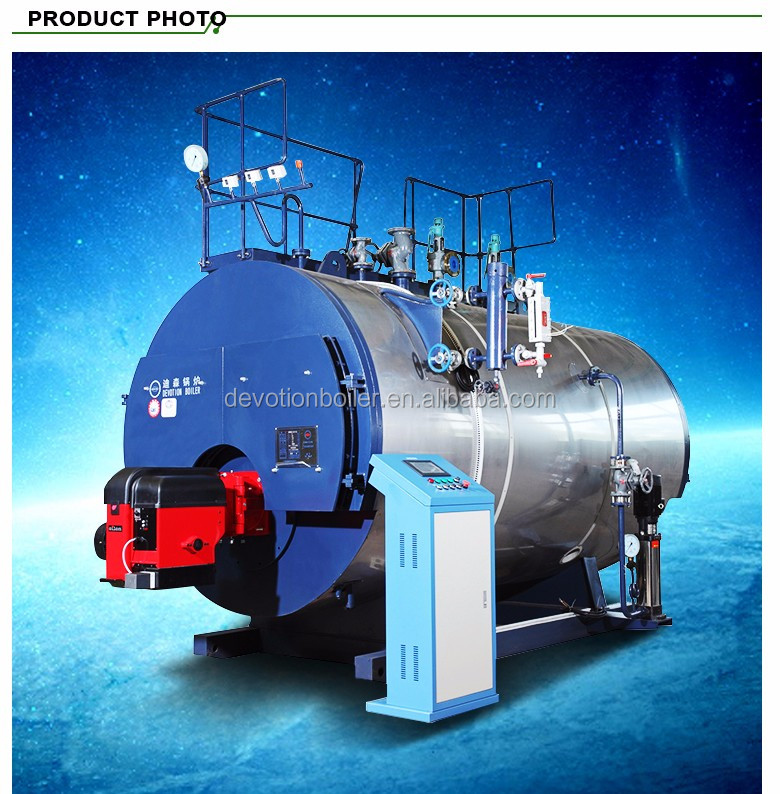 1ton horizontal flue natural gas fuel fired steam boiler for Ironer