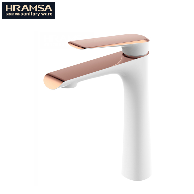 Rose gold finish Bathroom tap basin faucet mixer and bath faucet sanitary and brass faucet water tap