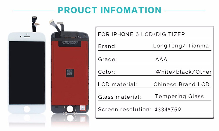 Top Quanlity Grade AAA LCD For iPhone 6 Screen Display With Digitizer Replacement Assembly