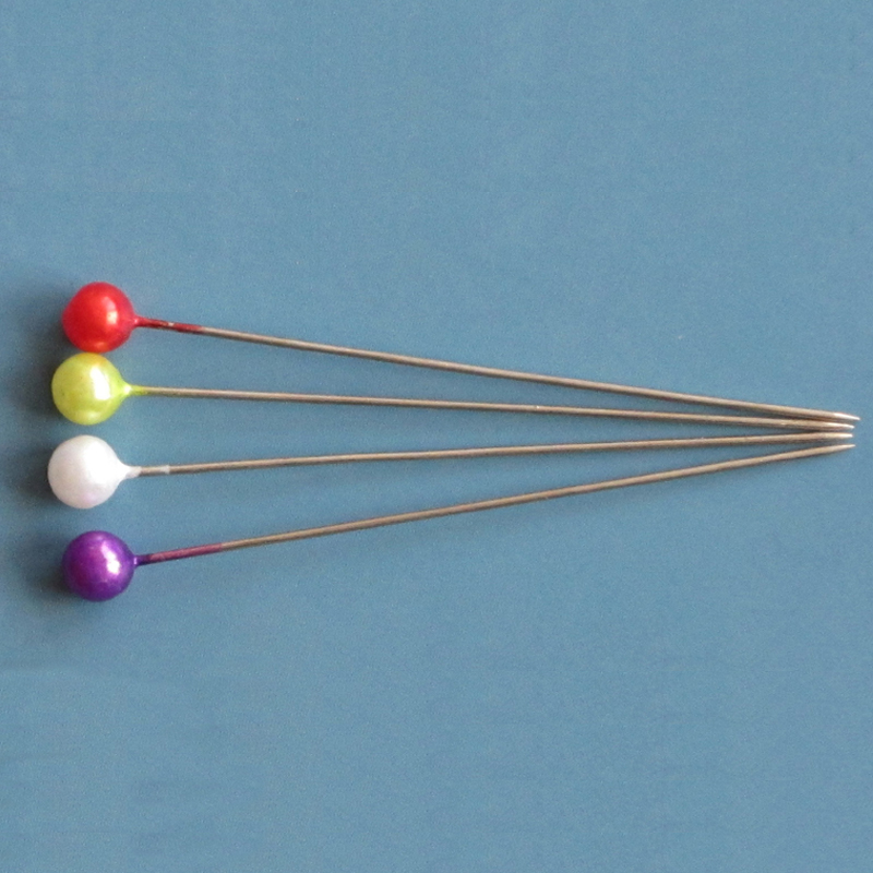 Qingdao Colorful Plastic Pearl Head Straight Decorative Dressmaker Pins