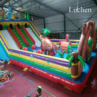 Colorful Inflatable water toys jumping castles bounce Kids slides