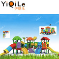 Colorful outdoor play ground kids plastic slide kids amusement park selling hot