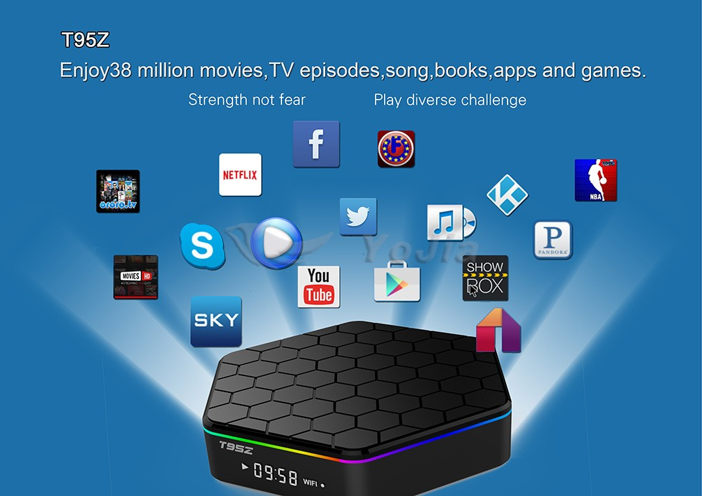 Original Amlogic S905x 2G/16G Quad Core Android 6.0 HD Media Player T95z Set Top Box