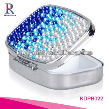 Crystal Diamond Pill Box