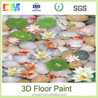 China supplier home decor odorless epoxy 3d floor paints coatings with High surface hardness and good density