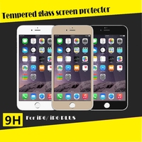 High definition Bubble Free Full body Electroplating Coating Real Premium tempered glass screen protector for iPhone 6 4.7 5.5