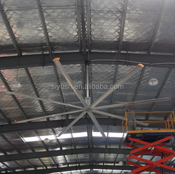 Hvls large factory ceiling fan