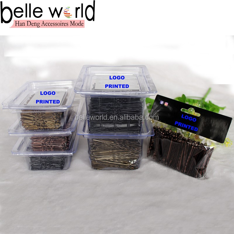 Factory Custom High Quality Different Size 60pcs Metal Nickel- free Hair Pins Sets