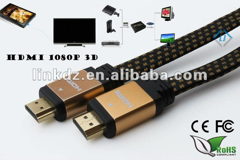 HOT Sell High speed New Premium 24k Gold plated HDMI cable 2160P 3D Ultra HD support HDMI 2.0 HDMI 1.4 with high quality