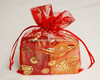 Gold foil printing organza bag for gift box