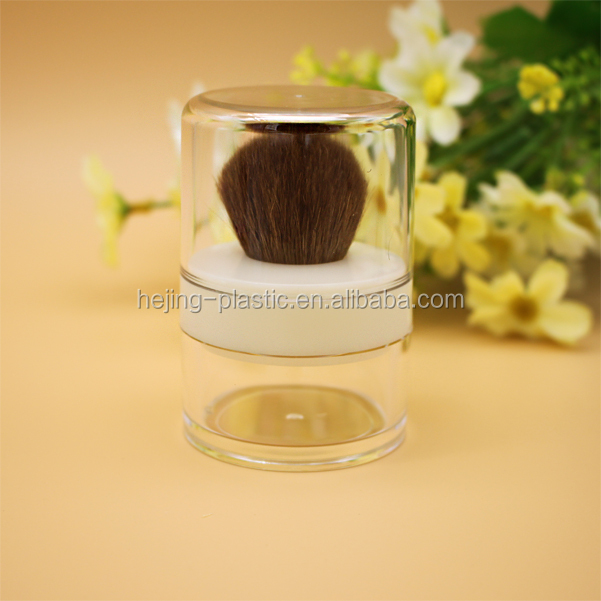 Luxury AS empty clear 20g cosmetic powder jar with brush and sifter