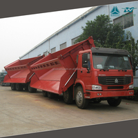 SINOTRUK HOWO 8x4 Dump Truck 35m3 Side Tipper with Trailer for Zambia
