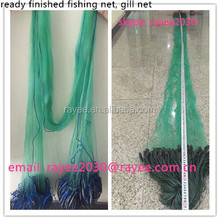 finland nylon ready fishing net, Finished Fishing nets with floats and leads