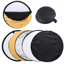 "24"" 60cm 5 in 1 Portable Collapsible Light Round Photography Reflector for Studio Multi Photo Disc"