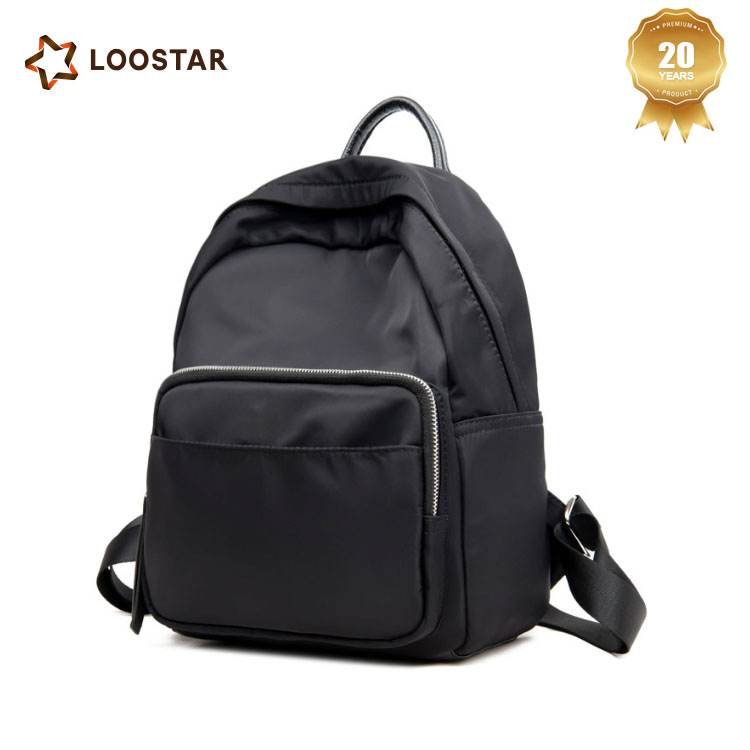 Black Causal Backpack Bag, School Bag for Teenagers