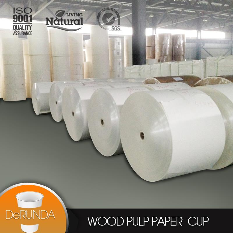 Baoding Derunda PE coated <strong>paper</strong> in roll with low price PE coated <strong>paper</strong>