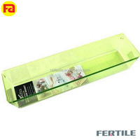 XQF 41X10.5X8CM home freezing storage box plastic rectangle green color ice box storage container