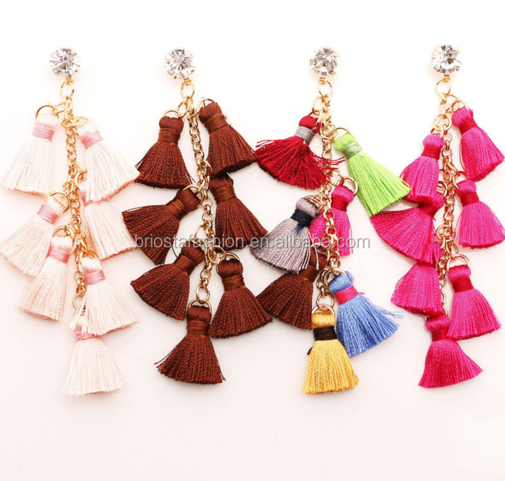 Wholesale Fashion Long Dangle Tassel Earings