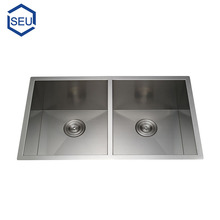 CUPC stainless steel small size undercounter double bowl kitchen sink