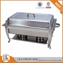 Deluxe Half size rectangular induction chafing dish/chafing dish handles