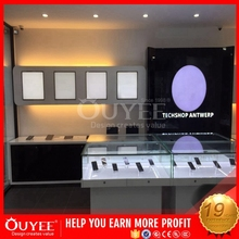 Top Shop High Quality Furniture Wood And Glass Display Cases For Mobile Phones Display