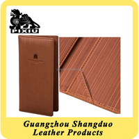 China Supplier Leather Book Style Double Menu cover