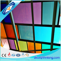 Chinese customized pattern safety stained glass plant for church