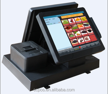 Double 12 inch touch screen retail/supermarket pos terminal/pos hardware