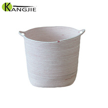 New Style High Quality Custom Round Cotton Rope Storage Basket