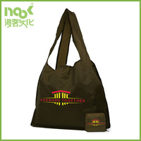 custom recycled polyester foldable shopping bag