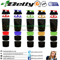 Manufacture of hot sell custom BPA FREE shaker cup with storage