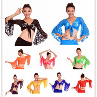 2016 Cheap Tribal Belly Dance Tops for Women Belly Dancing Bra Top on Sale