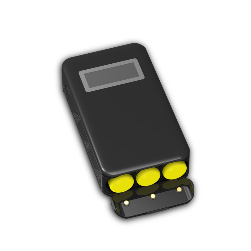 18650 power battery charger case with Two USB port , without 3 cell 18650 batteries