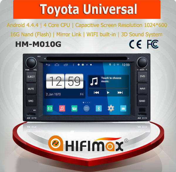 Android 4.4.4 toyota fortuner car audio player car radio player car multimedia navigation system for toyota fortuner accessories