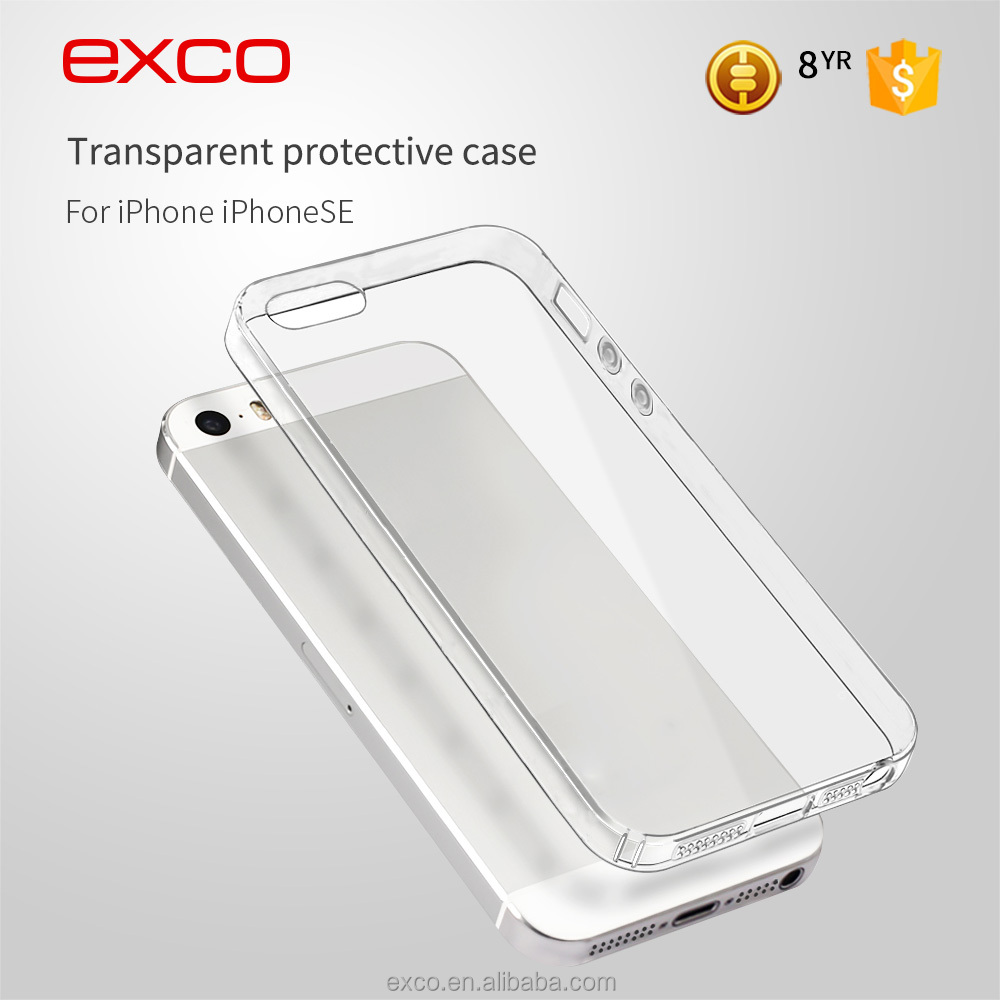 EXCO full cover Ultra-slim Transparent Soft tpu mobile phone case for iPhone5 se